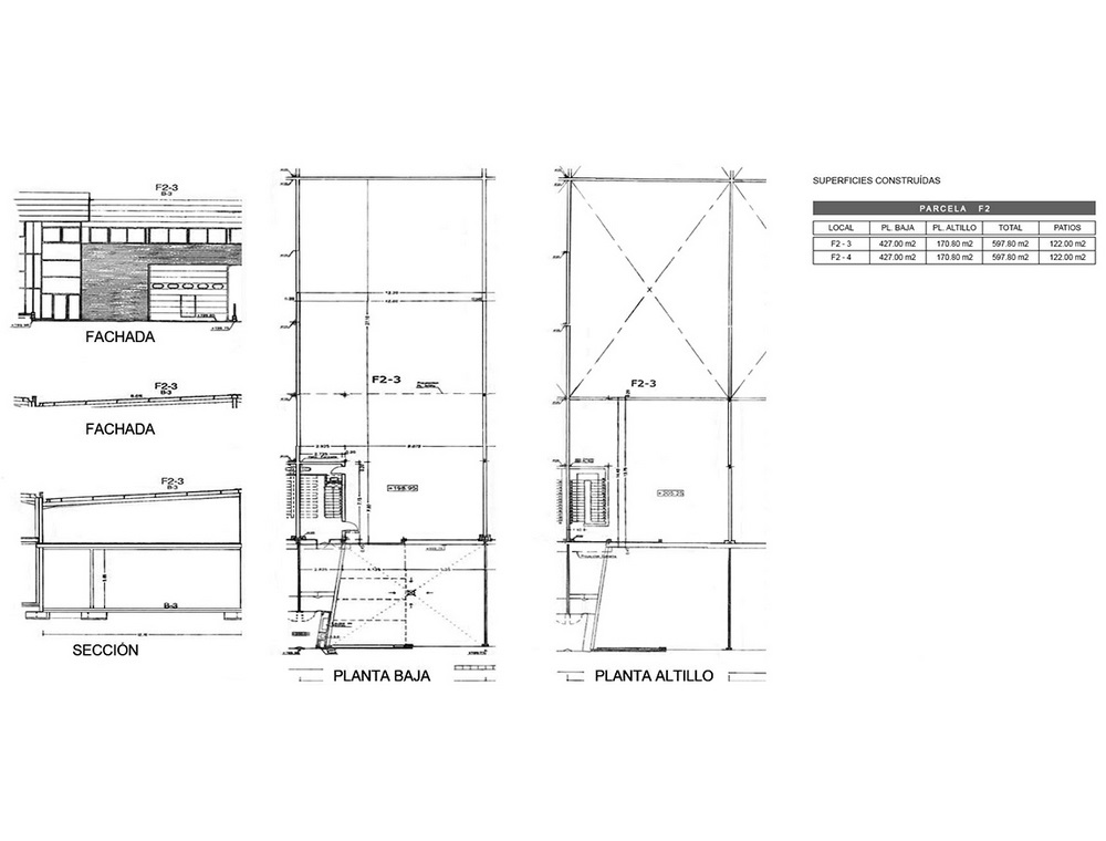 Plano nave industrial en Cornellà, Calle Huelva